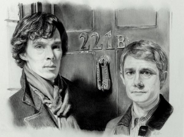 Martin Freeman, Benedict Cumberbatch by akalinz